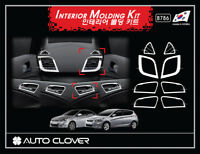 Autoclover Chrome Interior Molding 8pcs for 07/2011 ~2018 Hyundai Accent 4dr 5dr