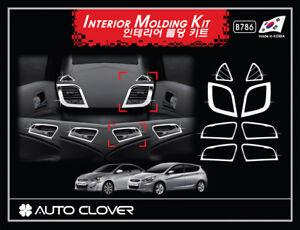 Autoclover Chrome Interior Molding 8pcs for 07/2011 ~2018 Hyundai Accent 4dr 5dr