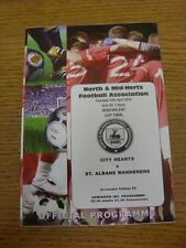15/04/2010 North And Mid-Hertfordshire Benevolent Cup Final: City Hearts v St Al
