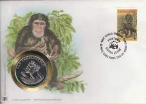 Numisbrief WWF 1983 Sierra Leone - Pan Troglodytes / Chimpansee (062)