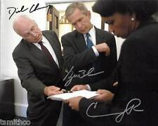 George W. Bush Dick Cheney Condoleeza Rice Signed Reprint 8x10 Photo 003