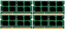 32GB DDR3 PC8500 4x 8GB PC3-8500 DDR3-1066MHz Laptop SODIMM MEMORY RAM (4x8GB)