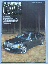 Performance Car 12/1985 featuring Audi Quattro,Ford RS200, Lancia S4,Peugeot T16