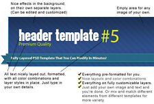 25 Fully Layered PSD Header Templates That You Can Modify in Minutes on CD
