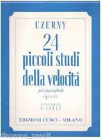 Czerny: 24 Kleine Studien Der Speed Für Klavier - Curci
