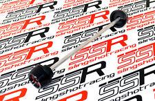 Black/Red Ducati Diavel Cromo Amg Carbon Dark Strada Front Fork Slider Bobbin