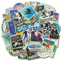 70Pcs Ski Snowboard Stickers Bomb Skiing Winter Sport Laptop Luggage Decals Pack