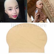 Fake Latex Flesh Skin Unisex Bald Head Wig Cap Rubber Skinhead Costume Prank