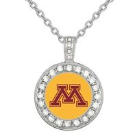University Of Minnesota Golden Gophers 925 Sterling Silver Necklace College D18