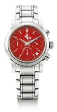 Girard Perregaux Ferrari Stainless Steel ref 8020 Red Dial NOS Mens Chronograph