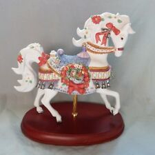 2001 Lenox Christmas Carousel Horse - train in wreath