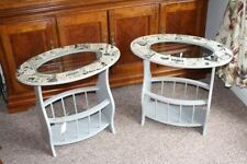 Less than 30 cm Width Oval Side & End Tables