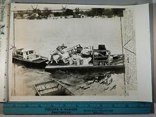 Rare Historical Orig VTG 1945 Coast Guard Flood Rescue Jonesville LA Photo