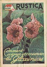 Rustica 17 24/04/1955 Gloxinias Poisson Tanche