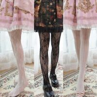 Lace Vintage Japanese Girl Lolita Sweet Stripe Hollow Pantyhose Tights Harajuku