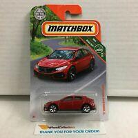 '17 Honda Civic Hatchback * RED * MXB Matchbox * HE16