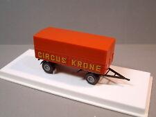 Brekina 5520 Circus Krone 2-Achs Anhänger Trailer mit Pritsche & Plane P/P & OVP