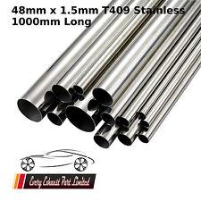 """WIRQUIN 48mm x 1,5 mm x 1000mm (32 """") T409 in Acciaio Inox Tubo Tubo di scarico riparazione 1M"""