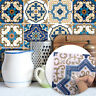 10pcs Blue Moroccan Self-adhesive Bathroom Kitchen Wall Stair Floor Tile Sticker