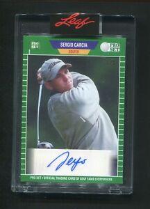 2021 Leaf Pro Set Sergio Garcia Auto Autograph 1/3 PGA