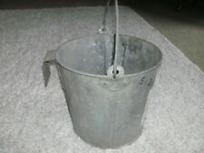 VINTAGE CALF FEEDING BUCKET WITH BRACKET TO HANG ON FENCE, STALL, ETC FREE SHIP