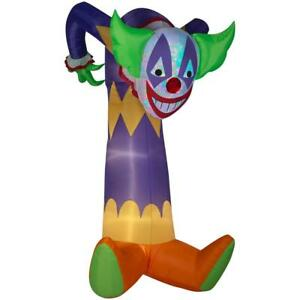 Gemmy 7.51 ft. Pre-Lit Projection Kaleidoscope Clown (RGB) Halloween Inflatable