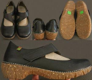 El Naturalista Clogs Women's Size US 9 UK 6 EUR 40, Black Leather