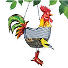 Colorful Hanging Mesh Rooster Bird Feeder