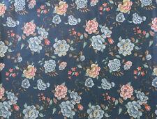 "Vtg House N Home Fabrics & Drapery 1982 Preshrunk 7 Yards 55"" W Blue Floral"