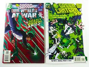 DC GREEN LANTERN: OUR WORLD'S AT WAR (2001) #1 + 3-D (1998) #1 w/GLASSES Lot