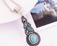 Turquoise Crystal Beauty Costume Necklaces & Pendants