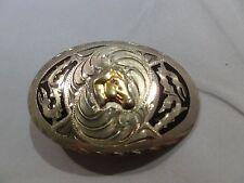 Vintage Western Silver Horse Belt Buckle Mexico