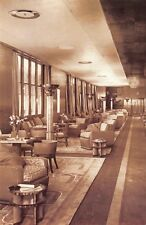 Nostalgia Postcard 1936 Cabin Long Gallery, Queen Mary, Ocean Cunard Liner NS19