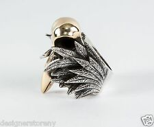 King Baby Alloy Raven Sterling Silver Skull Silver Ring size 7