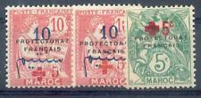 MAROC 1914 Yvert 55, 57, 59 * (F0889