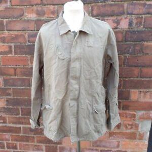 Levi Strauss Canvas Field Jacket Coat Khaki Hip Length Men's L Large