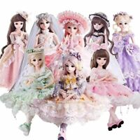 60cm BJD Dolls 1/3 Ball Jionted Doll Gift for Girls with Clothes Full Set Outfit