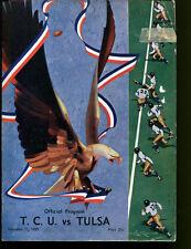 1939 TCU Horned Frogs v Tulsa Football Program VG 18799