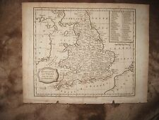 Superb Antique 1807 England Wales Copperplate Dated Map County Detailed Fine Nr