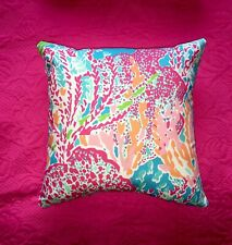 New throw pillow made with LILLY PULITZER Lets Cha Cha Fabric