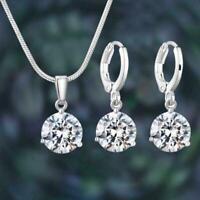 Tear Drop Halskette Ohrringe Set vergoldet Hochzeitsgeschenkkette Anhänge r I7M1