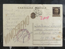 1943 Padova Italy Concentration Camp postcard Cover to Lubiana Slovenia