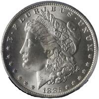 1885-O Morgan Silver Dollar PCGS MS65 Blast White Gem Nice Strike STOCK
