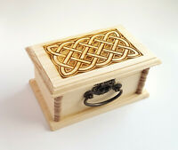 Wooden Gift Box Free Personalizaed Engraving Celtic Love Knot Wooden Box