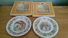 Two Boxed Brambly Hedge Royal Doulton Afternoon Tea Plates... Summer & Winter