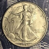 1945 WALKING LIBERTY SILVER HALF DOLLAR COLLECTOR COIN. FREE SHIPPING