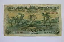More details for the national bank ltdcurrency commission one £1 pound/punt 10/6/1929 11na 089449