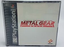Metal Gear Solid Sony PlayStation 1 PS1 Black Label Complete & Tested FREE SHIP