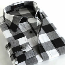 New Mens Casual Plaid Comfort Flannel Long Sleeve Fit Cotton Check Shirt