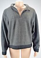 Womens Field Gear Size XL Heavy Fleece Jacket Sweater Pullover 1/4 Zip Charcoal